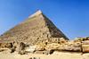The Khafre pyramid in the Giza desert near Cairo, Egypt.