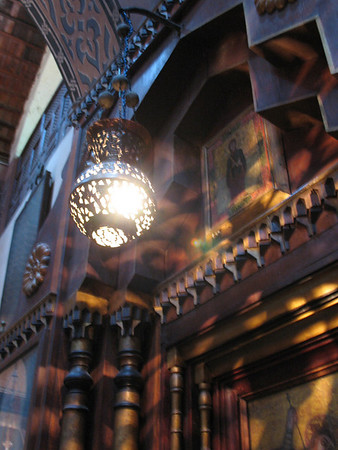 Lantern in the Hanging Church of Cairo