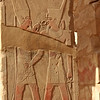 Tuthmoses IV with Amun the deity of Thebes at the open air museum, Karnak, Egypt