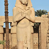 Colossal statue of Rameses II in the ancient Egyptian temple of Amun at Karnak, Luxor in Egypt