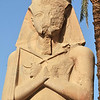Colossal statue of Rameses II at the ancient Egyptian temple of Amun at Karnak, Luxor in Egypt