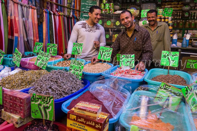 The famous Khan El Khalili market in Cairo, Egypt.