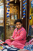 A young girl at the famous Khan El Khalili market in Cairo, Egypt.