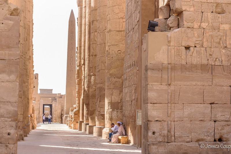 Waiting for Visitors at Karnak Temple