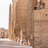 Waiting for Visitors at Karnak Temple