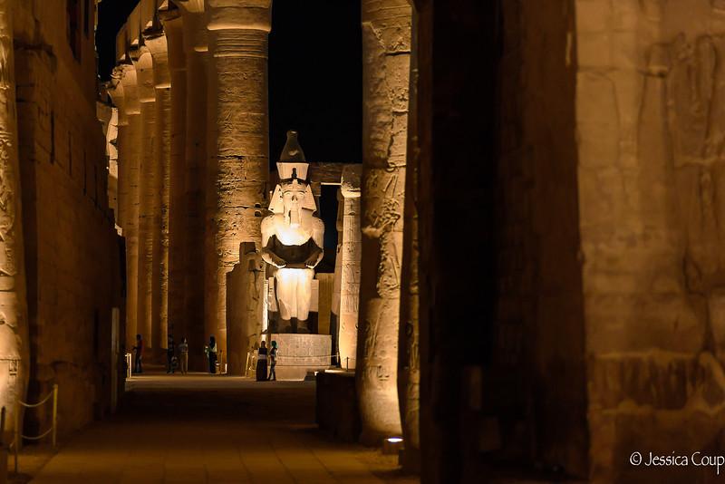 Nightfall at Luxor Temple