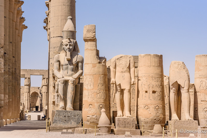 Large Statues of Luxor Temple