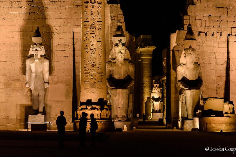 Enjoying Luxor Temple at Night