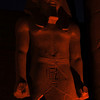 Ramses II lit up at night in the Luxor Temple in Egypt