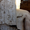 "Luxor Temple, Egypt<br /> A statue being plastered over by a different pharoah's demands - it is a commonplace to find things ""erased"" and ""written over"" by rulers in temples."