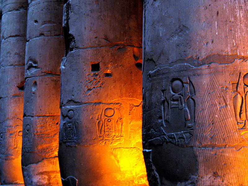 A picture I took in 2007...<br /> Luxor Temple, Egypt