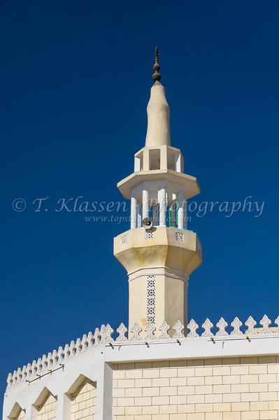 A mosque minaret in Luxor, Egypt.