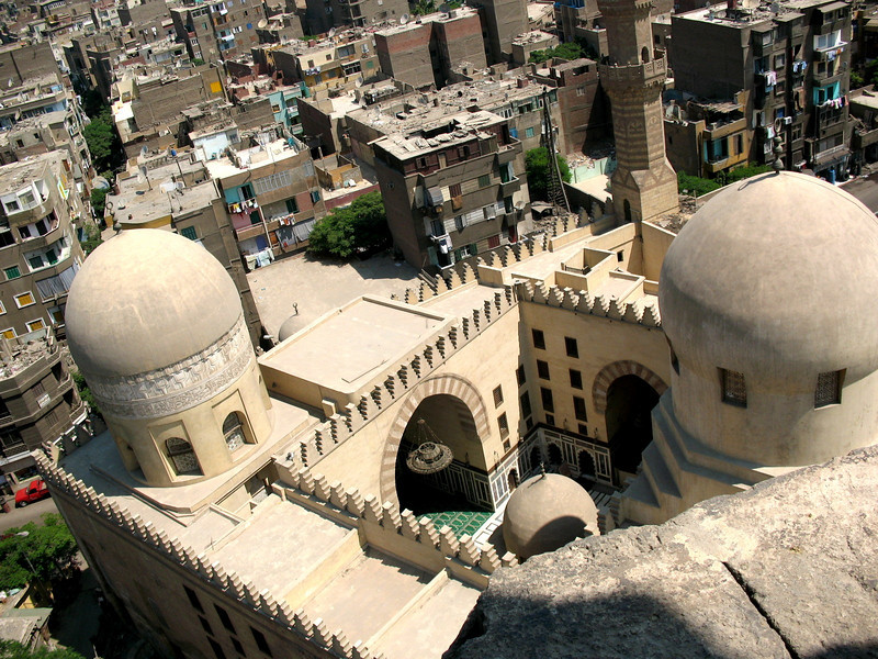 Aerial View of the Mosque of Sultan Hassan in Cairo