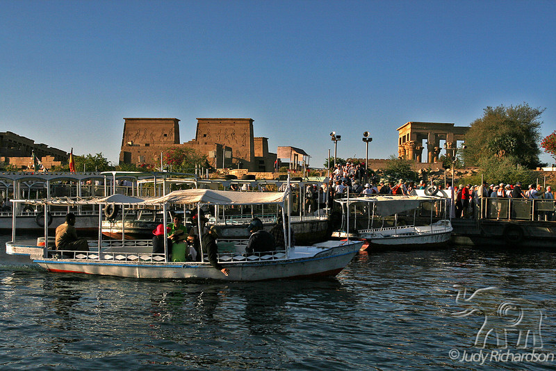 Philae from Water with Boats