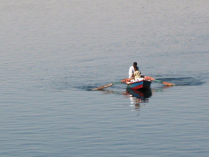 Boaters in the Nile