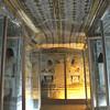 magnificent underground tomb of mayor Senufer in the ancient egyptian necropolis of the nobles at thebes near Luxor, Egypt. Precious paintings protected by glass screens