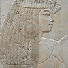 bas-relief portrait of a woman from the Tomb of Ramose in the ancient egyptian necropolis of the nobles at thebes near Luxor, Egypt
