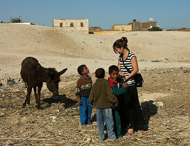 egypt-kids-donkey