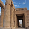 The inner sanctuary and central axis of the Ramesseum, the ancient egyptian mortuary temple of Ramses II at thebes near Luxor, Egypt