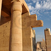 Hypostyle hall in the Ramesseum, the ancient egyptian mortuary temple of Ramses II at thebes near Luxor, Egypt