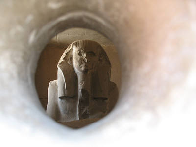 Statue of Djoser at Saqqara (through an offering hole)