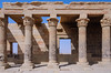 The Philae Temple of Isis, on Agilkia Island in Lake Nasser, Egypt.