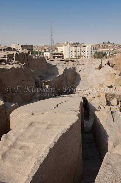 The unfinished Obelisk near Aswan, Egypt.