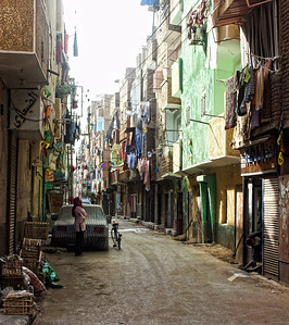 Exploring the back streets of Luxor.