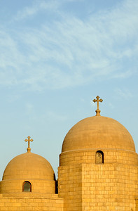 Domes of Upper Church of St George, Cairo
