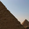 Menkaure as seen from  the Pyramid of Khafre,