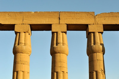 Columns of Sun Court of Amenhotep III, Luxor Temple