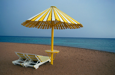 Beach Bed and Umbrella, Dahab