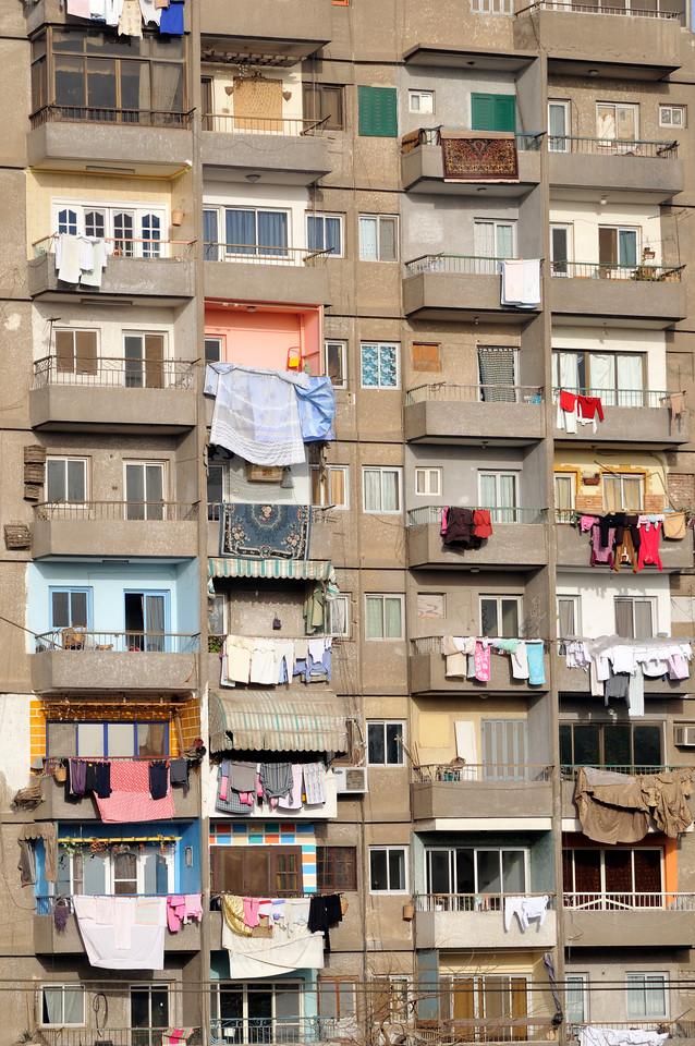 Balconies of Apartment Block, Cairo, Egypt