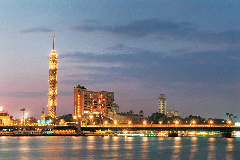 Gezira Island with El Borg Tower, Cairo