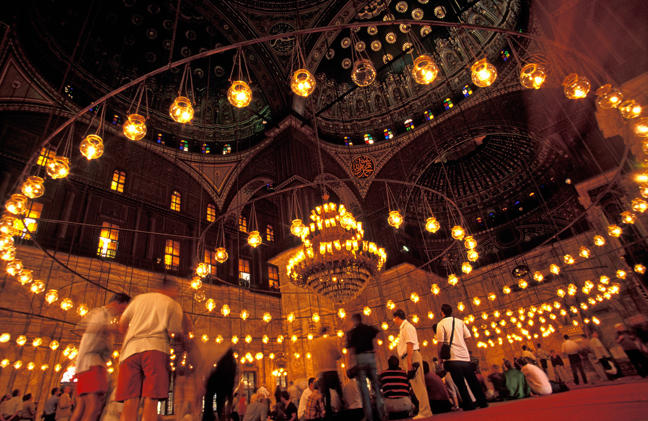 Interior of Mosque of Mohammed Ali, Cairo