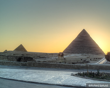 The Sphinx and the Pyramids in Cairo Egypt
