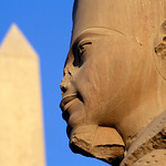 Statue of Amun-Re with Obelisk, Karnak Temple