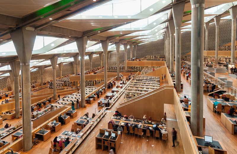 Interior of Library of Alexandria