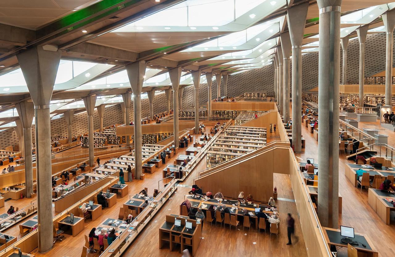 Interior of Library of Alexandria