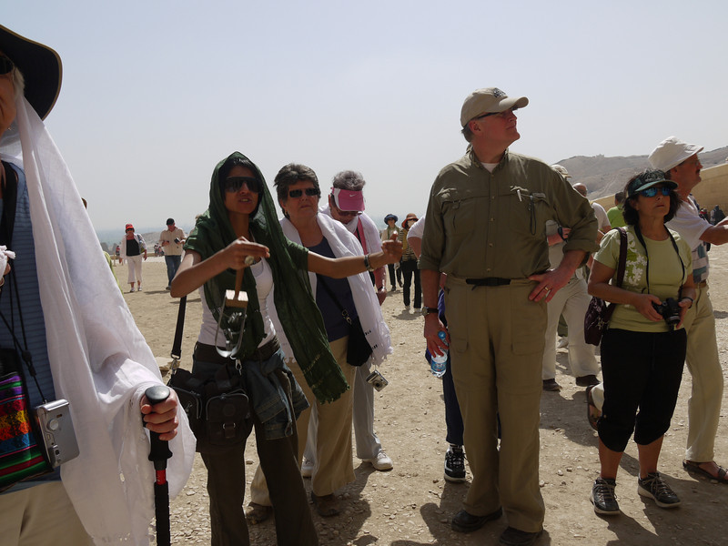 Arriving at Hatshepsut's Temple after leaving the Valley of the Kings (where cameras are banned).