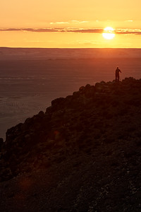 Lonely Photographer at sunset