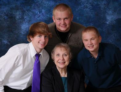 Grandma and Boys Blue 8x10close