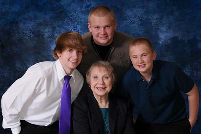 Grandma and Boys Blue