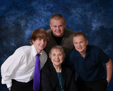 Grandma and Boys Blue 8x10