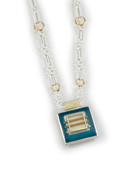 """#7 """"Square SQ Chris Necklace"""" - Chain is 16"""" to 18"""" - $155. Call Smith Galleries to order at 800.272.3870 between 10 am and 5 pm, Monday through Saturday."""