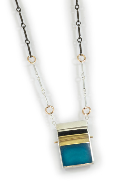 """#10 """"REC  Necklace - Chain is 16"""" to 18"""" - $155. Call Smith Galleries to order at 800.272.3870 between 10 am and 5 pm, Monday through Saturday."""