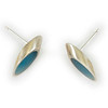 """#22 """"Silver Turquoise Post Earring"""" - $80. Sterling and Resin - Call Smith Galleries to order at 800.272.3870 between 10 am and 5 pm, Monday through Saturday."""