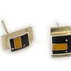 """#28 """"Nina Black Caramel Earring"""" - $100. Sterling and Resin - Call Smith Galleries to order at 800.272.3870 between 10 am and 5 pm, Monday through Saturday."""