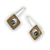 """#23""""REC Pearl Caramel Black Pearl Earring"""" - $265. Sterling and Resin - Call Smith Galleries to order at 800.272.3870 between 10 am and 5 pm, Monday through Saturday."""