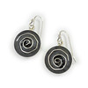 """#25 """"Carved Rose Sterling Earring"""" - $135. Sterling and Resin - Call Smith Galleries to order at 800.272.3870 between 10 am and 5 pm, Monday through Saturday."""